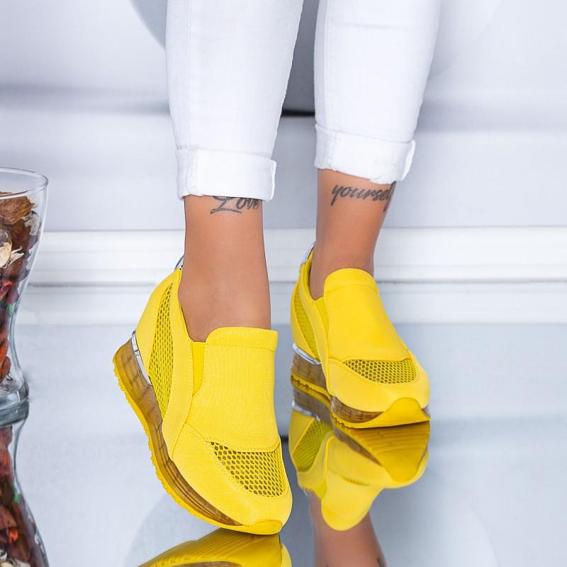 Pantofi Sport Dama HFD25 Yellow (C05) Mei