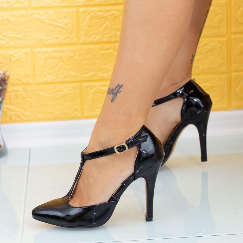 Pantofi cu Toc subtire MD5 Negru Mei