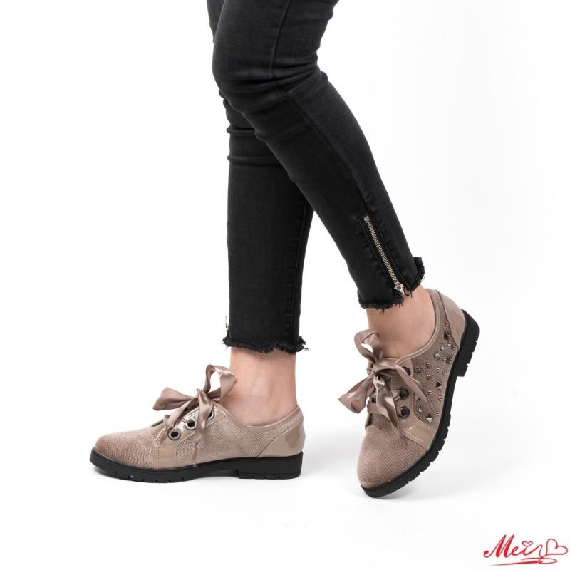 Pantofi Casual Dama YT02 Khaki Mei