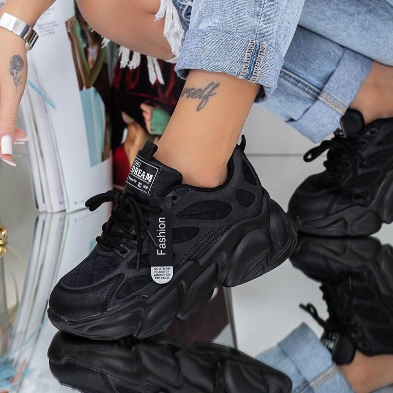 Pantofi Sport Dama 20A13 Negru Mei