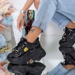 Pantofi Sport Dama cu Platforma 20A22 Negru Mei
