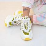 Pantofi Sport Dama SZ323 Galben Mei
