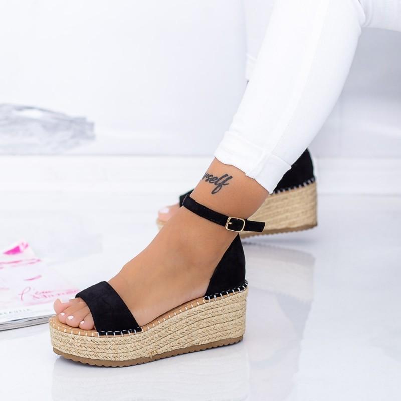 Sandale Dama cu Platforma FS29 Negru Mei