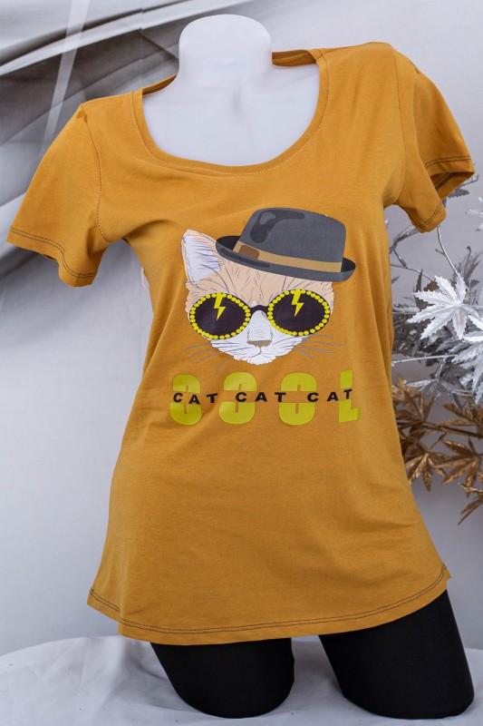 "Tricou Dama ""COOL CAT"" 1831 Camel Fashion"