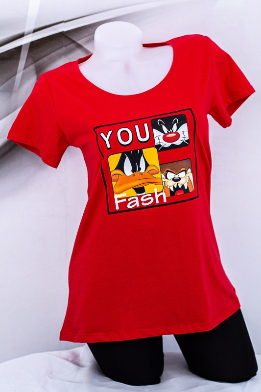"Tricou Dama ""YOU Fash"" 1833 Rosu Fashion"