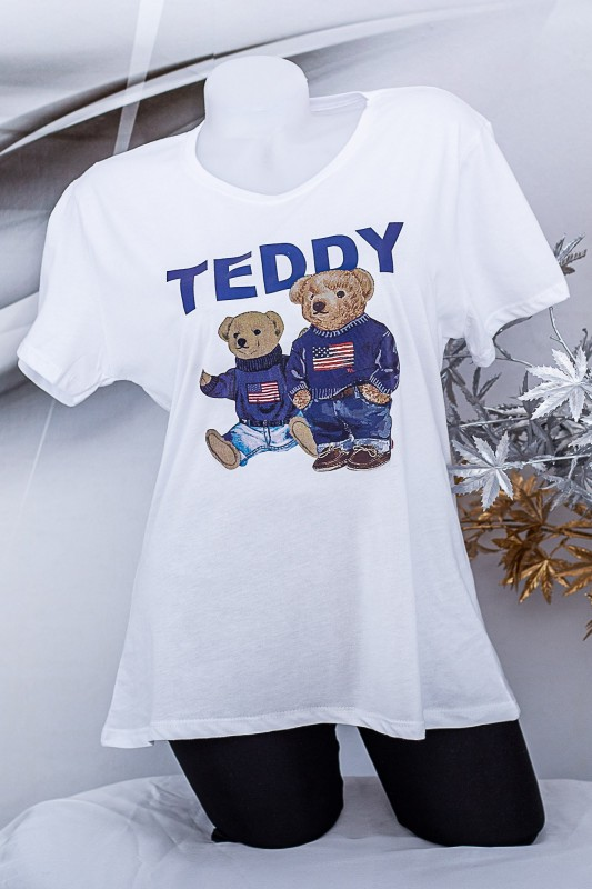 "Tricou Dama ""TEDDY"" 1834 Alb Fashion"
