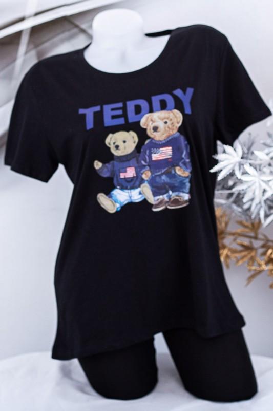 "Tricou Dama ""TEDDY"" 1834 Negru Fashion"