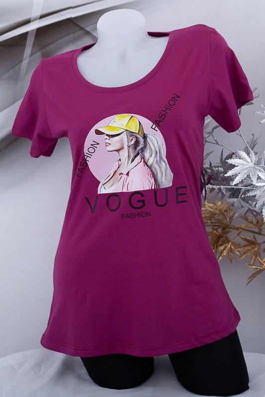 """Tricou Dama """"VOGUE FASHION"""" 1835 Mov Fashion"""