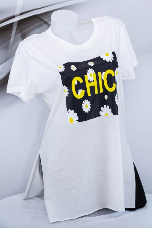 "Tricou Dama ""CHIC"" 1828 Alb (G07) Fashion"