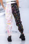 Pantaloni Dama 1909 Alb-Negru Fashion