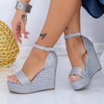 Sandale Dama cu Platforma FS26 Albastru Mei