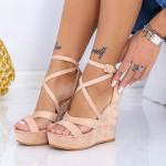 Sandale Dama cu Platforma HXS18 Nude Mei