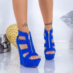 Sandale Dama cu Platforma XKK513 Albastru Mei
