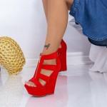 Sandale Dama cu Platforma XKK513 Rosu Mei