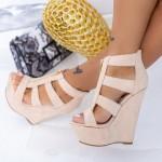 Sandale Dama cu Platforma XKK513 Nude Mei