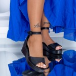 Sandale Dama cu Platforma HXS3 Negru Mei