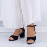 Sandale Dama cu Toc gros QZL217 Black Mei