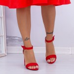 Sandale Dama cu Toc gros XKK165A Red Mei