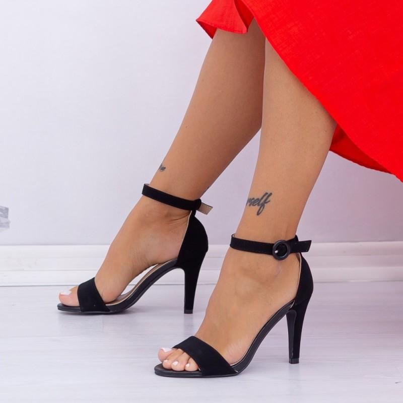 Sandale Dama cu Toc subtire YBS38 Black Mei