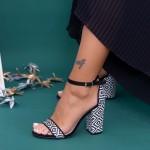 Sandale Dama cu Toc gros KV21 Black Mei