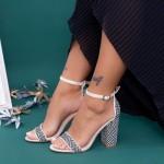 Sandale Dama cu Toc gros KV21 Beige Mei