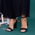 Sandale Dama cu Toc gros KV22 Black Mei