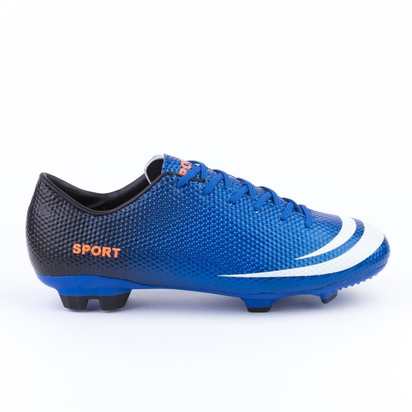 Ghete Fotbal Barbati A8362B-1& Royal Blue-Black-Orange Mei