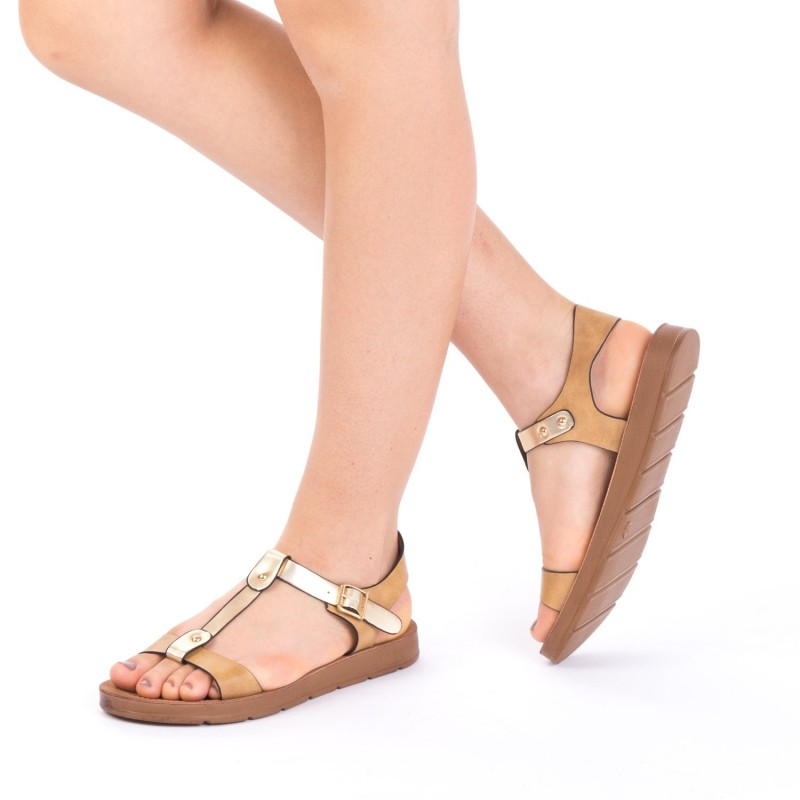 Sandale Dama CS7 Camel Mei