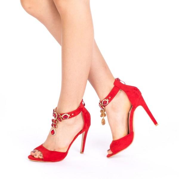 Sandale cu Toc HLX38 Red Mei