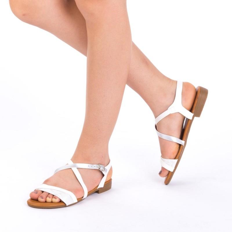 Sandale Dama JZF6 White Mei
