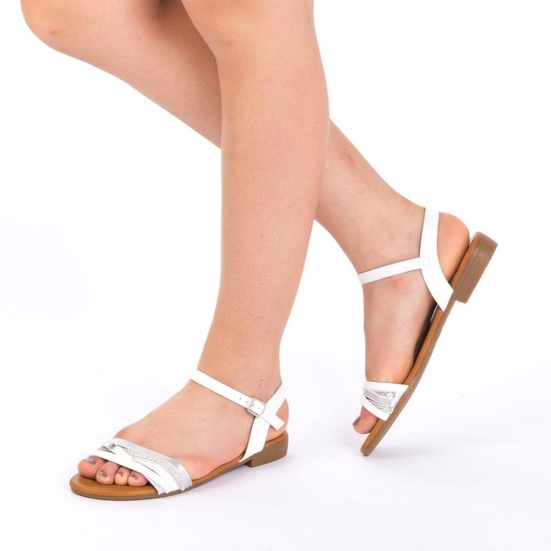 Sandale Dama JZF7 White Mei