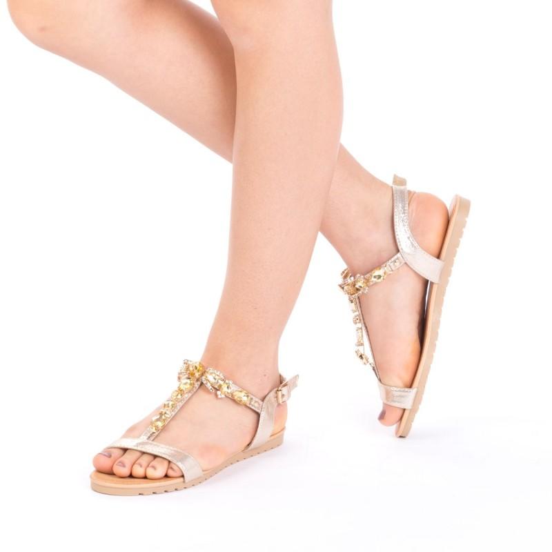 Sandale Dama LM232 Gold Mei