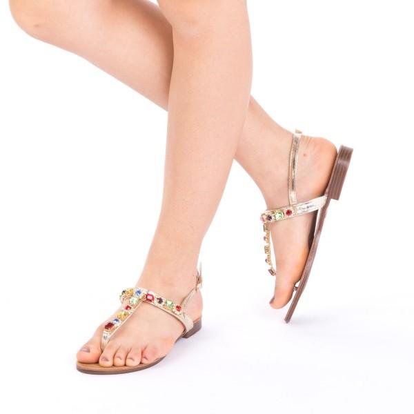 Sandale Dama WS91 Gold Mei