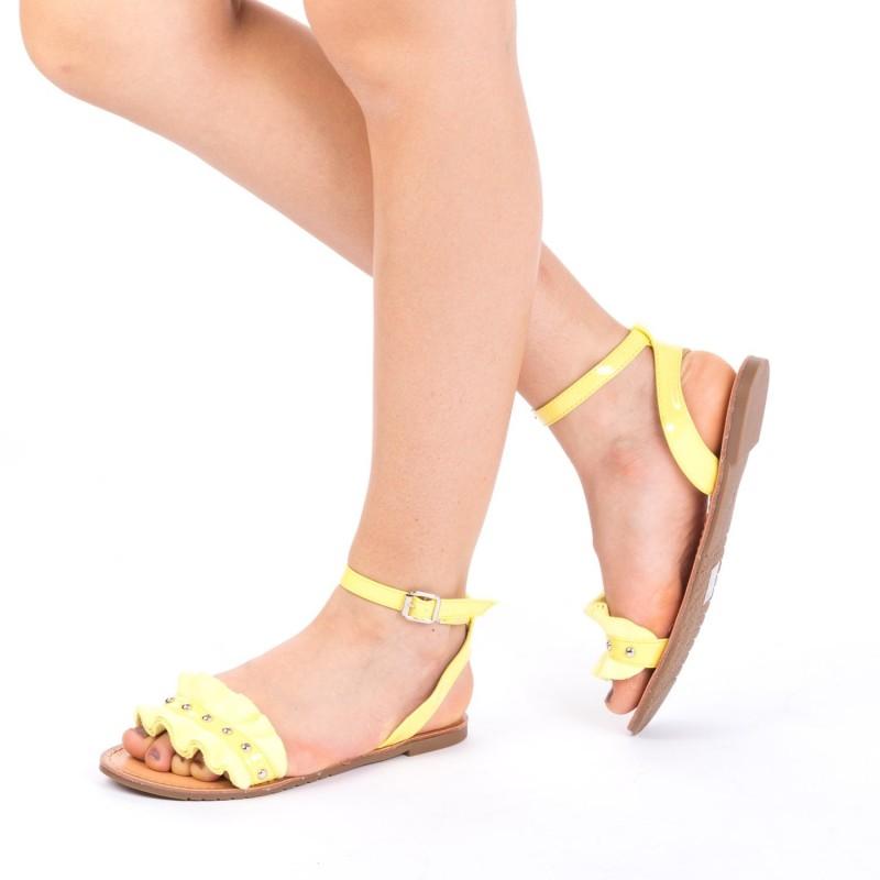 Sandale Dama XF10 Light Yellow Mei