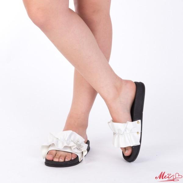 Papuci Dama TJ9 White Mei