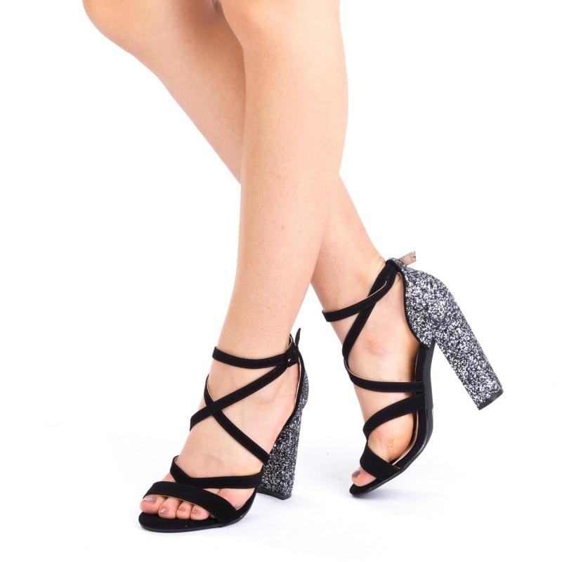 Sandale cu Toc XKK115 Guncolor Mei